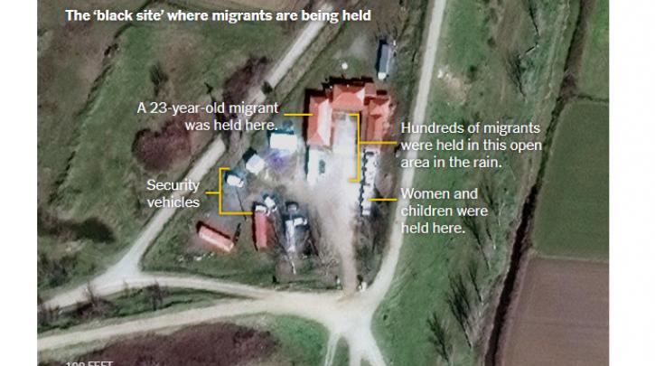 Μυστικό κέντρο κράτησης προσφύγων στον Έβρο αποκαλύπτουν οι New York Times